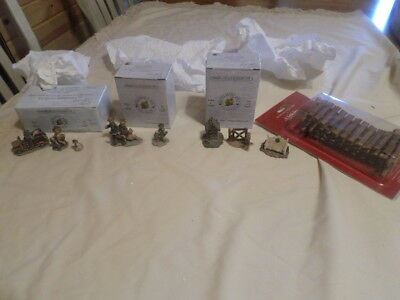 Boyds Village Accessories Lot #10 Set Of 4 Different Boxed Sets As Shown
