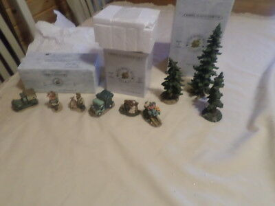 Boyds Village Accessories Lot #9 Set Of 3 Different Boxed Sets As Shown
