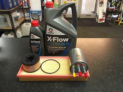 Ford Mondeo Mk3 2.0 / 2.2 Tdci Service Kit Oil Fuel Air Filters & 6 Litres Xflow