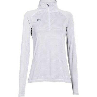 Under Armour Stripe Tech 1/4 Zip Top - Women's - White - XL - 1276211-100