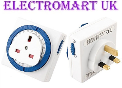 Plug In Mechanical Segment Time Timer Switch 24 Hour Mains 13A