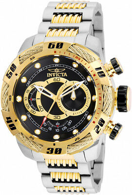 Invicta Men's Speedway Chronograph 100m Two-Tone S. Steel Black Dial Watch 25481