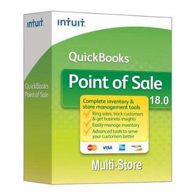 Genuine Intuit QuickBooks Point of Sale Multi-Store V18 1 User   -2018 version