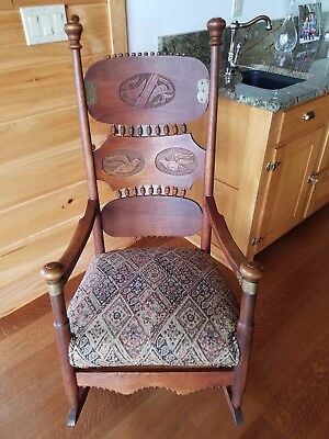 Price Drop!  Stunning Oak Antique Victorian Rocking Chair, Rocker