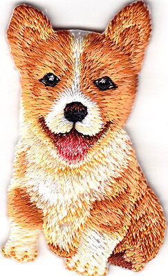PETS - DOGS - CORGI PUPPY/Iron On Embroidered Patch/Puppies -  Animals