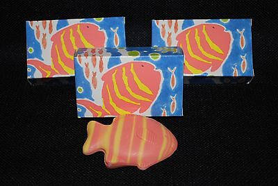 Avon Sea Striped Fish Soap 1.5OZ each 3 New in Package
