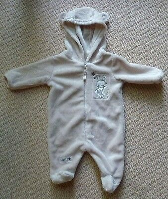 NWT Target Girls Boys Beige Rabbit Ears Romper Coverall with Hood Size 00