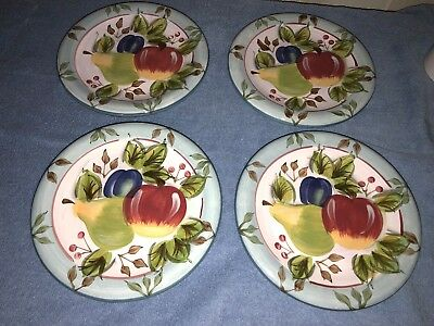 Black Forest Fruits Dinnerware Heritage Mint 8 inch Salad Plates 4 in set EUC & BLACK Forest Fruits Dinnerware Heritage Mint 8 inch Salad Plates 4 ...