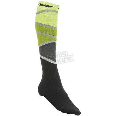 Fly Racing Lime/Green Thick MX Socks ( Mens Small/Med ) 350-0425S
