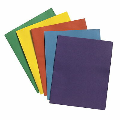 School Smart 2-Pocket Folders Assorted Colors Pack of 25 Color Assorted NEW