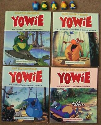 YOWIES Lot 4x BOOKS + 5x FIGURES Ditty Boof Nap Squish Crag cadbury collectibles