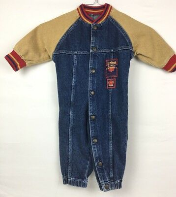 Vintage Little Levis Girls Boys Jumpsuit Size 24 month hall of fame Made in USA