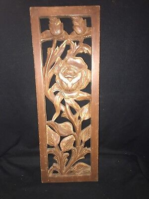 "1930's 22"" Carved Wood Pediment"