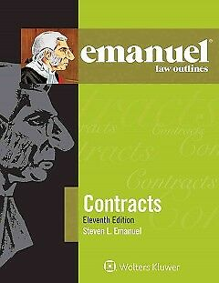 Emanuel Law Outlines Contracts - NEW - 9781454870142 by Emanuel, Steven L.