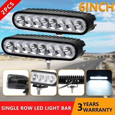 Pair 6inch 40W CREE LED Work Light Spot Flood Off Road 4WD UTE Fog Lamps 80W