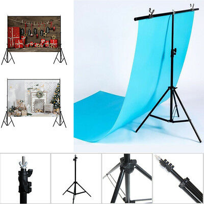 Adjustable Background Support Stand Photo Backdrop Crossbar Kit Photography 2*2M