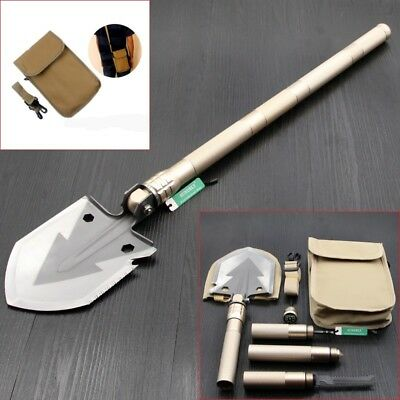 AU Outdoor Gold Multi-function Folding Shovel Engineer Tool For Camping Hiking