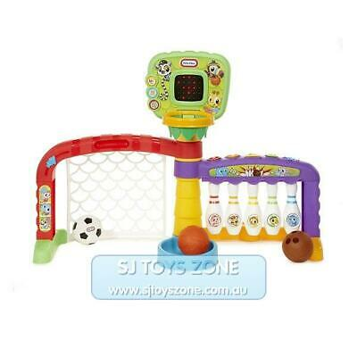 Little Tikes 3-In-1 Sports Zone Basketball Soccer & Bowling w/ 3 Balls Kids Toy