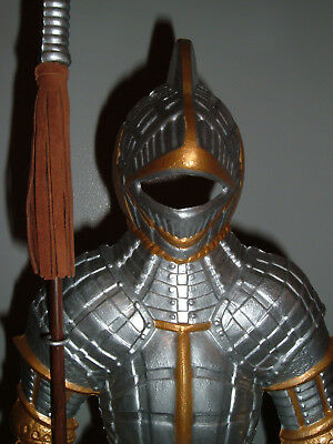 knight - medieval knight statue - ceremonial armor with halberd - 24'' tall