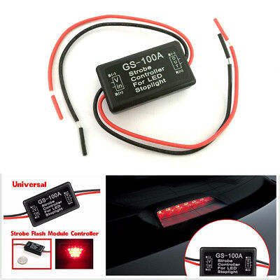1pc Car GS-100A Flash Strobe Controller Box Module for LED Brake Tail Stop Light