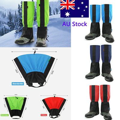 AU Men Women Waterproof Legging Gaiter Kids Climbing Hiking Snow Legging Gaiter