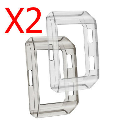 [2 Pack] TPU Rugged Frame Bumper Cover Case for Fitbit Ionic Smart Watch 2017