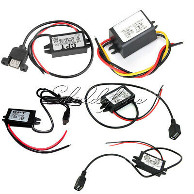 DC Converter Step down 12V to 9/5/6V 2A 15W Mini/Micro/Double USB Power Adapter