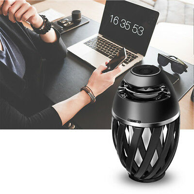 Outdoor Wireless Bluetooth 4.2 Stereo Speaker w/ Atmosphere LED Flame Light