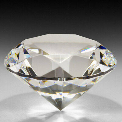 40/60mm Crystal Clear Paperweight Cut Glass Giant Diamond Jewel Decor Gift