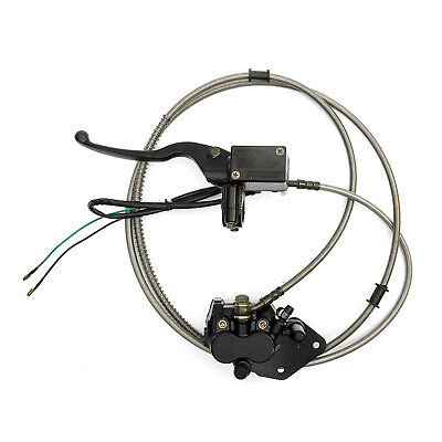 Hydraulic Rear Disc Brake Chinese Scooter Left Lever LHD 125cc Calliper Switched