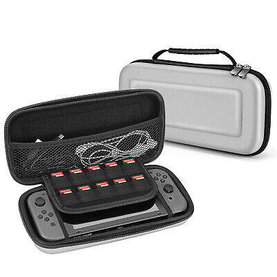 Nintendo Switch Travel Case Portable Carry Hard Shell EVA Game Deluxe (Gray)