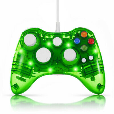 USB Wired Gamepad Controller for PC XBox 360 Slim Joystick Shock Vibration Green