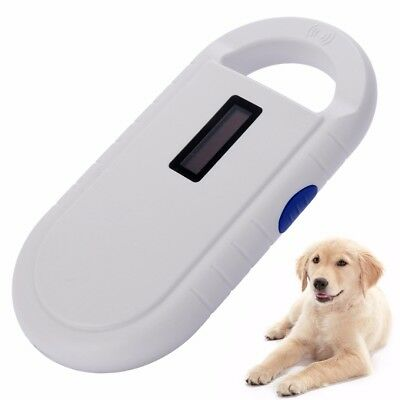 RFID 134.2Khz Pet Animal Microchip Recognition Reader Ear Tag Scanner Portable