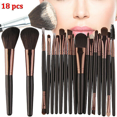18pcs Kabuki Professional Make up Brush Brushes Set Makeup Foundation Blusher UK