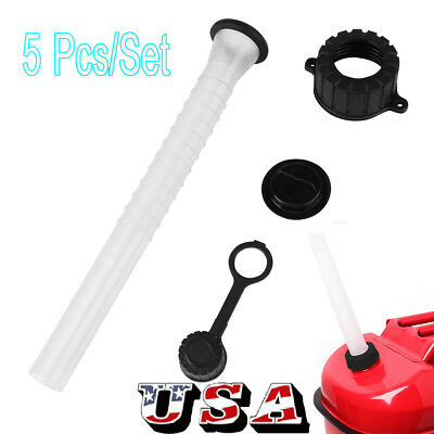 Gas Can Fuel Container Spout Gasket Stopper Screw Collar Rear Vent Cap 5 Pcs US