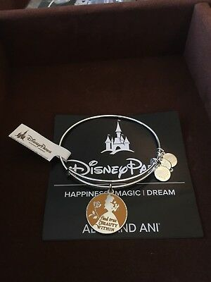 Disney Alex and Ani Belle Silver Find True Beauty Within Bracelet Beauty Beast