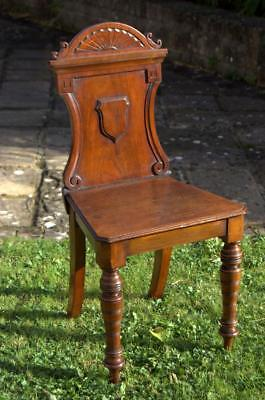 Victorian Walnut Hall Chair ( dismantled, in kit form)