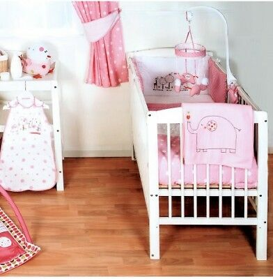 New Red Kite Pink Hello Ernest Cosi Cot / Cot Bed / Cot 4 Pce Bedding Set