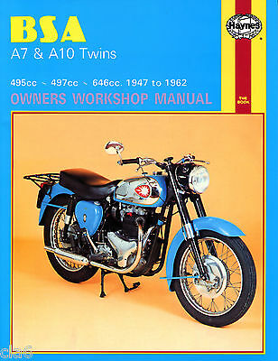 BSA A7 and A10 Owners Workshop Manual 1947-62 Shooting Star Flash Rocket etc*NEW