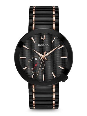 Bulova 98A188 Special Latin GRAMMY Edition Men's Watch Black IP/Rose Gold 38mm