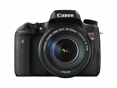 Canon EOS Rebel T6S / 760D DSLR Camera Kit Black 24.2MP with 18-135mm Lens