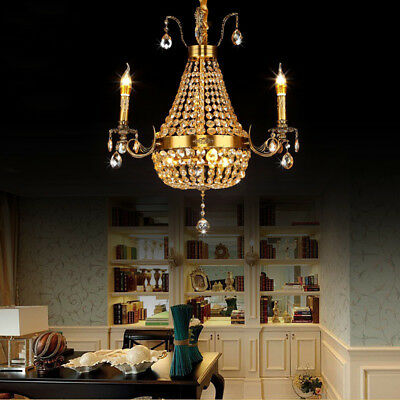 ASG Vintage European Style Crystal Chandeliers Candle Design Ceiling Lamps Decor