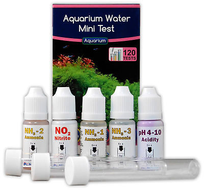 NT Labs Mini Test Kit 120 Tests For Freshwater & Tropical Aquariums Fish Tank