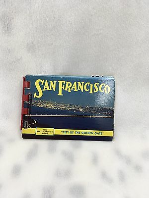 "Vintage San Francisco ""City by the Golden Gate"" Plastichome Photo Views Souvenir"
