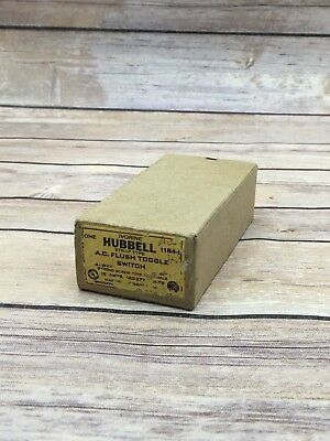 Vintage Hubbell 4-Way Toggle Wall Switch NOS 1184-1 15A AC Flush Toggle Switch