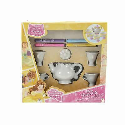 Disney Princess Beauty And The Beast Create Your Own Tea Set Kids Toy Playset