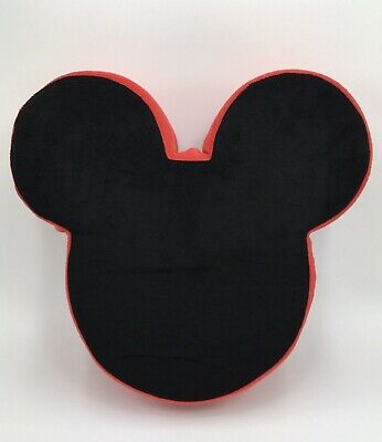 """Disney Store Exclusive Mickey Mouse Pillow 14""""x13""""x4"""" 3D Shaped Plush"""