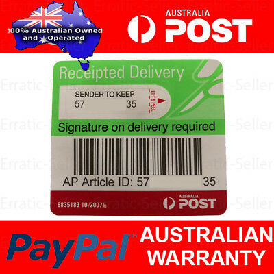 Australia Post Signature On Delivery Tracking Receipted Labels Aus Post