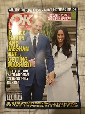 OK! Magazine PRINCE HARRY & MEGHAN MARKLE Souvenir Engagement issue DEC 5 2017