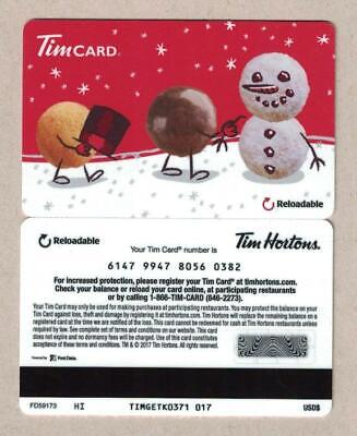 Tim Hortons USA 2017 Christmas Timbits Gift Card FD59173